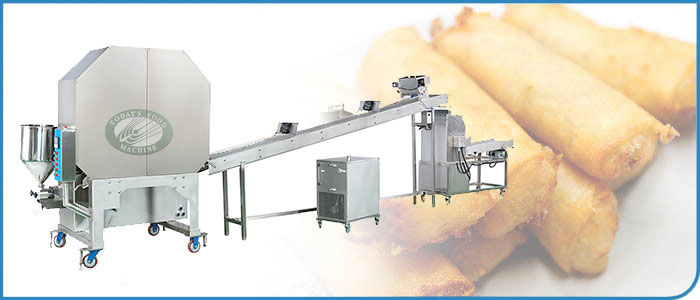 Auto Spring Roll / Samosa Pastry Sheet Making Machine (Large Type)