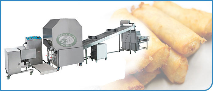 Twin Baked Drum Spring Roll/Pastry Sheet Making Machine